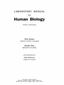 Laboratory Manual For Human Biology
