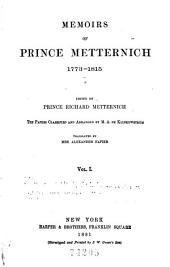 Memoirs, 1773-1835: Volume 1