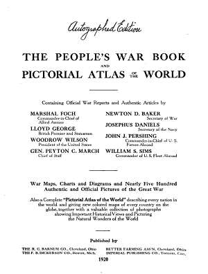The People's War Book and Pictorial Atlas of the World