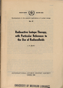 Radioactive Isotope Therapy  with Particular Reference to the Use of Radiocolloids PDF