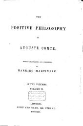 The Positive Philosophy of Auguste Comte: Volume 2