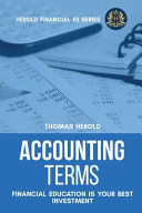 Accounting Terms   Financial Education Is Your Best Investment Book