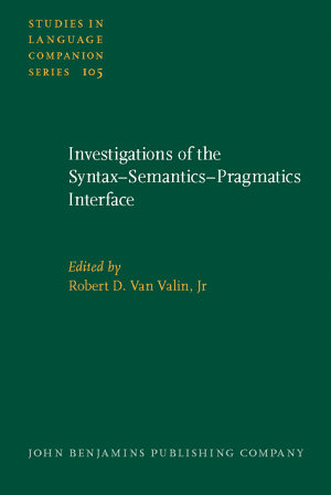 Investigations of the Syntax semantics pragmatics Interface