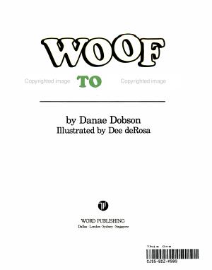 Woof Goes to School PDF