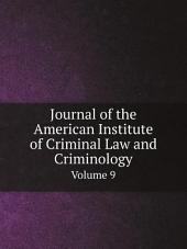 Journal of the American Institute of Criminal Law and Criminology