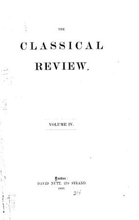 The Classical Review PDF