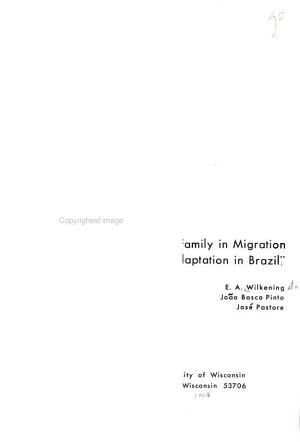 Role Of The Extended Family In Migration And Adaptation In Brazil