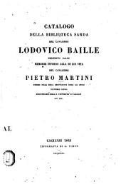Catalogo della biblioteca sarda del cavaliere Lodovico Baïlle: preceduto dalle memorie intorno alla di lui vita