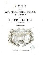 Atti della Reale Accademia dei fisiocritici in Siena: Volume 10