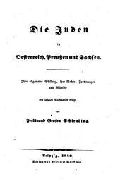 Die Juden in Oesterreich, Preußen und Sachsen