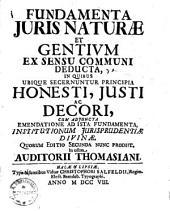 Fundamenta iuris naturae et gentium ex sensu communi deducta