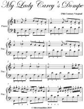 My Lady Carey's Dompe - Easy Piano Sheet Music