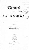 Ahasverus  oder  Die Judenfrage PDF