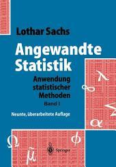 Angewandte Statistik: Anwendung statistischer Methoden, Ausgabe 9