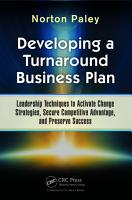 Developing a Turnaround Business Plan PDF