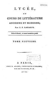 Lycée ou cours de littérature ancienne et moderne