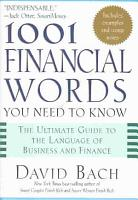 1001 Financial Words You Need to Know PDF