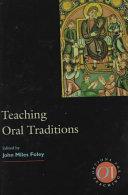 Teaching Oral Traditions PDF