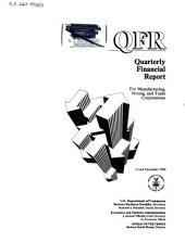 Quarterly financial report for manufacturing, mining and trade corporations: Issue 4