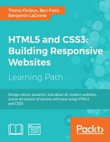 HTML5 and CSS3  Building Responsive Websites PDF