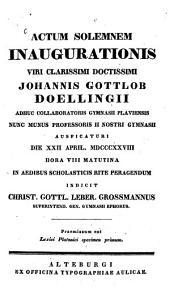 Lexici Platonici specimen primum