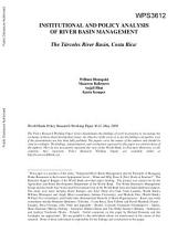 Institutional and Policy Analysis of River Basin Management: The Fraser River basin, Canada