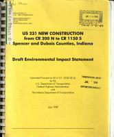US 231 New Construction from CR 200 N to CR 1150 S  Spenser and Dubois Counties PDF