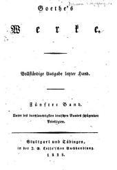 Goethe's werke: Vollständige Ausg. letzter Hand ...
