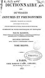 Dictionnaire des ouvrages anonymes et pseudonymes  compos  s  traduits ou publi  s en fran  ais et en latin PDF