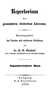 Allgemeines Repertorium der neuesten in- und ausländischen Litteratur (hrsg. von Christian Daniel Beck.)