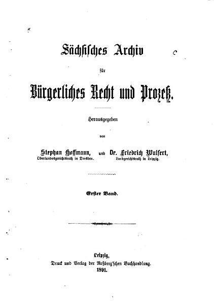 Archiv Fur Burgerliches Recht