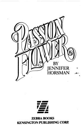 Passion Flower PDF