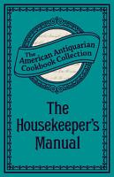 The Housekeeper s Manual PDF
