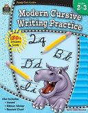 Modern Cursive Writing Practice  Grades 2 3