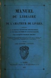 Manuel du libraire et de l'amateur de livres: Volumes2à3