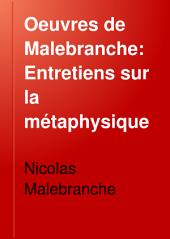 Entretiens sur la métaphysique