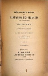 Précis politique et militaire des campagnes de 1812 [i.e. dix-huit cent douze] à 1814 [i.e. dix-huit cent quatorze]: Volume2