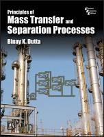 PRINCIPLES OF MASS TRANSFER AND SEPERATION PROCESSES PDF