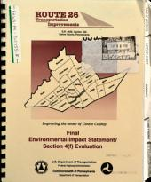 Route 26 Transportation Improvements, Centre County: Environmental Impact Statement