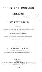 A Greek And English Lexicon To The New Testament Etc Book PDF
