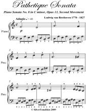 Pathetique Sonata Second Movement Easiest Piano Sheet Music