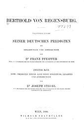 Berthold Von Regensburg: Volume 2