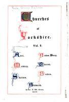 Churches of Yorkshire  Adel  Methley  Skelton  Bolton Percy  Thirsk  Birkin  Bubwith PDF