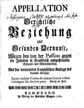 Appellation Oder Gerichtliche Beziehung zur gesunden Vernunft, Wegen den ... gegen die Jesuiten in Frankreich ausgestreuten Schmäh- und Winkelschriften
