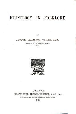 Ethnology in Folklore PDF