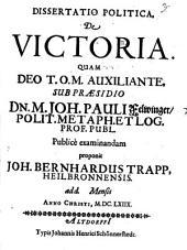 Dissertatio Politica, De Victoria
