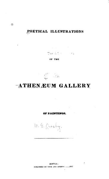 Download Poetical Illustrations of the Athenaeum Gallery of Paintings Book
