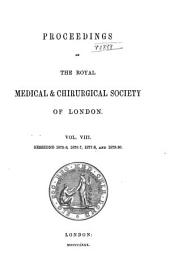 Proceedings of the Royal Medical and Chirurgical Society of London