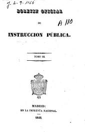 Boletín oficial de instrucción pública: Volumen 3