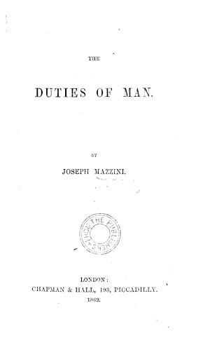 The Duties of Man